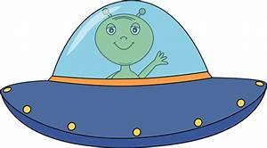 Alien Flying UFO Clip Art - Alien Flying UFO Image