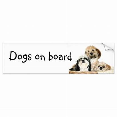 Zazzle Bumper Dogs Sticker Board Mix