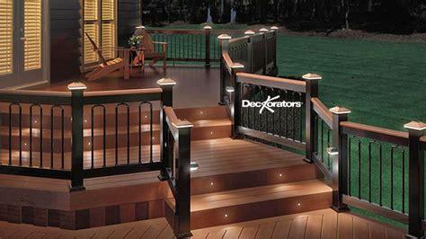 deckorators railings balusters post caps  lighting