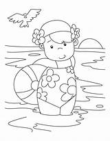 Coloring Swimming Pool Pages sketch template