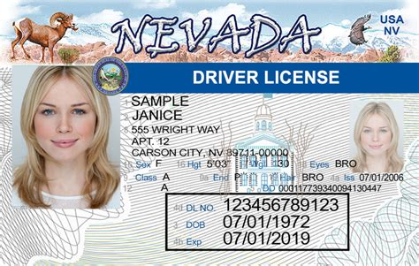 Nevada New Driver's License Application And Renewal 2019