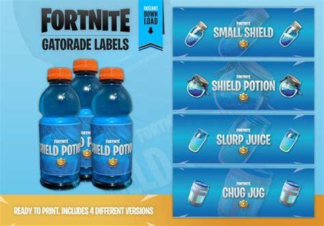 fortnite party gatorade bottle label instant