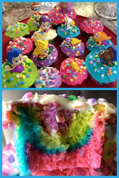 rainbow bubble guppies cupcakes braxton s birthday