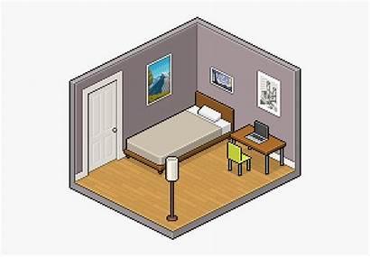 Empty Clipart Isometric Pixel Transparent Drawing Interior