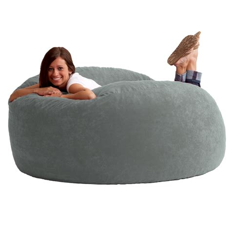 King Fuf Bean Bag Chair by 5 King Fuf Bean Bag Chair In Comfort Suede Fabric By