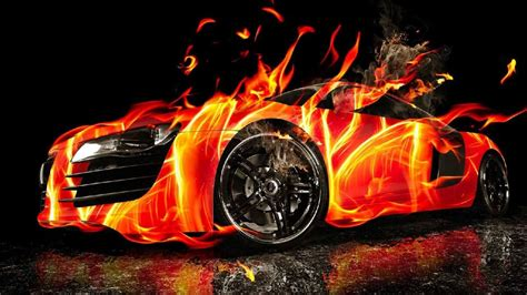 Cool Car Wallpapers For Desktop 3d Hd Wallpapers by Beautiful 3d Burning Car Hd Wallpapers Things I
