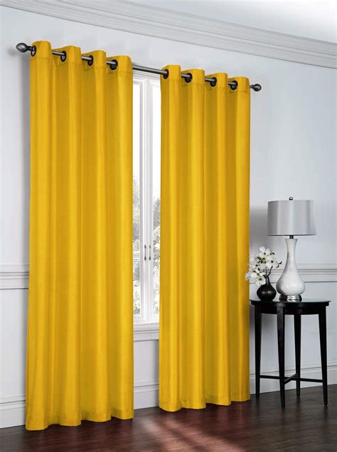 yellow curtain panels beautiful yellow mustard curtains ease bedding with
