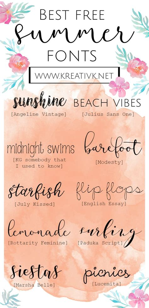 Free Best by Best Free Summer Fonts Kreativk