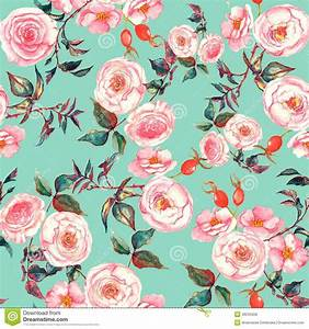 Hand Drawn Watercolor Floral Seamless Pattern With Tender ...