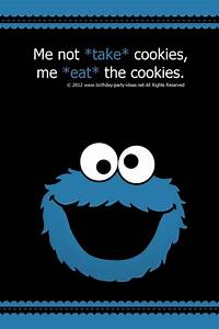 Cookie Monster birthday party quotes | Parker turns 2 ...