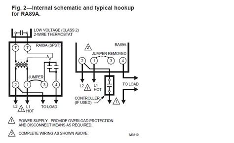 wiring a honeywell ra89a relay hvac diy chatroom home improvement forum