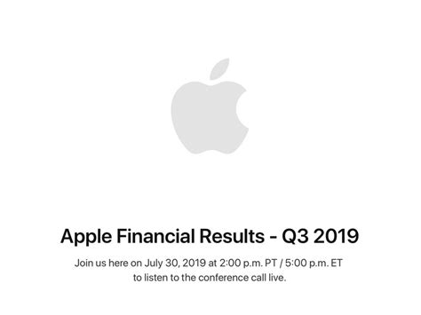 apple announces   financial results call  july  imore