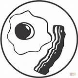 Bacon Colorear Colorir Dibujos Ovo Huevo Panceta Dibujo Carne Desenho Desenhos Frito Kolorowanki Coloring Egg Res Clipart Imagenes Imprimir Imagen sketch template