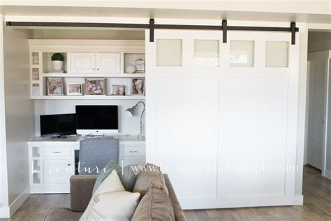 Custom White Barn Door And Desk… » B Couture Photography