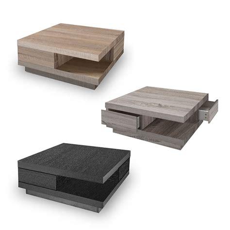 table basse carre bois avec tiroir moderne tirogo rtm 16