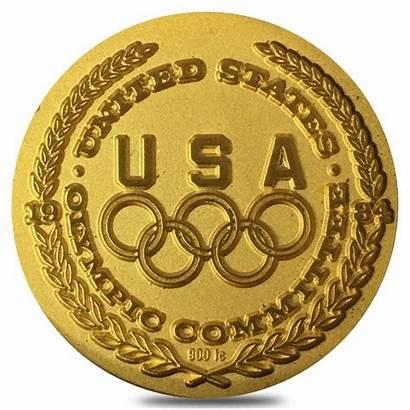 Medallion Gold Dali Salvador Olympic 1984 Coa
