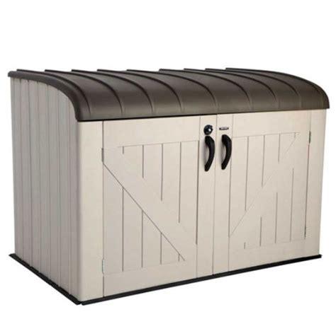 garbage bin storage shed lifetime outdoor garbage bin 60203 horizontal storage shed