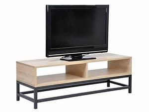 Casa Meuble Tv : meuble tv camden coloris ch ne noir chez conforama ~ Teatrodelosmanantiales.com Idées de Décoration