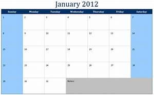 Blank Monthly Calendar 2012 Blank Monthly Calendar Black ...
