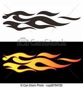 Car tattoo4. Tribal flames illustration for car decal or ...