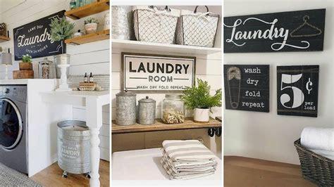 diy modern farmhouse style laundry room decor ideas