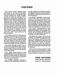 1955 Ford Car Shop Manual