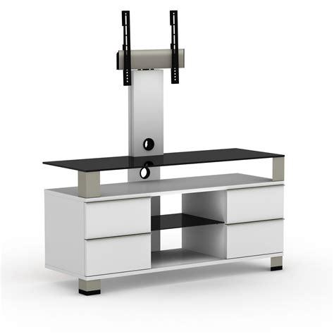 Meuble Ecran Plat Design by Elmob Pone Pn 120 02f Blanc Meuble Tv Elmob Sur Ldlc