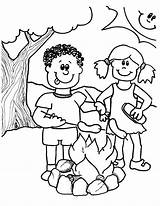 Camping Coloring Pages Printable Boy Theme Sheets Getdrawings Summer Getcolorings Doghousemusic sketch template