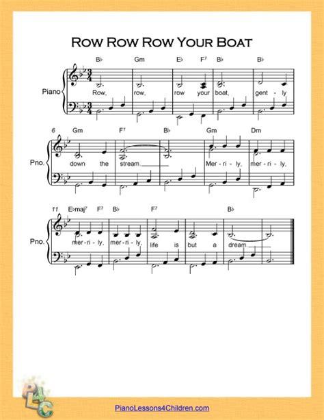 Row Your Boat Piano Sheet Music by Row Row Row Your Boat Lyrics Youtube Videos Free
