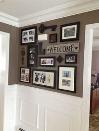 picture frame collage ideas Picture collage for front entry and impressive wainscoting ...