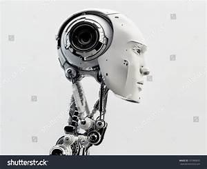 Stylish Handsome Cyborg Head Profile Futuristic Stock ...