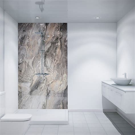 multipanel classic cappuccino stone unlipped bathroom wall