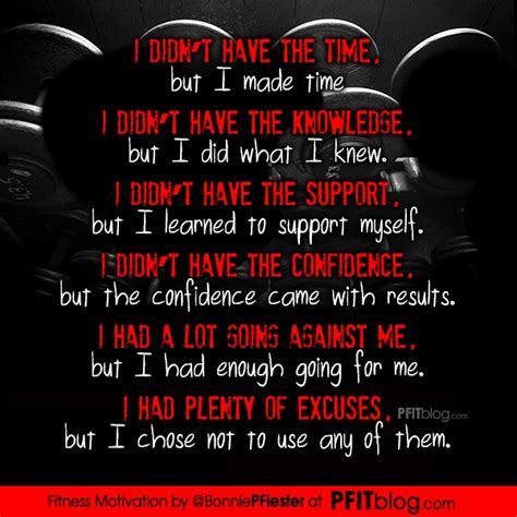 fitness motivation  excuses pfitblog