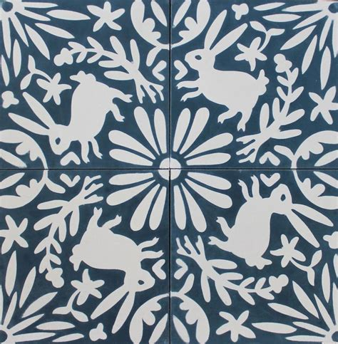 eleanor grosch otomi tile flora fauna  color