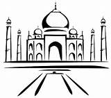 Taj Mahal Coloring Painting Colouring Pages Netart sketch template