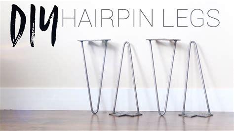 diy hairpin legs bending metal rod  heat youtube