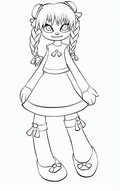 Doll Coloring Rag Creepy Annabelle Draw Szmaciana