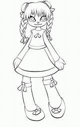 Doll Coloring Rag Pages Creepy Moonchild Tsukiko Lines Drawings Anime Evil Manga Deviantart sketch template
