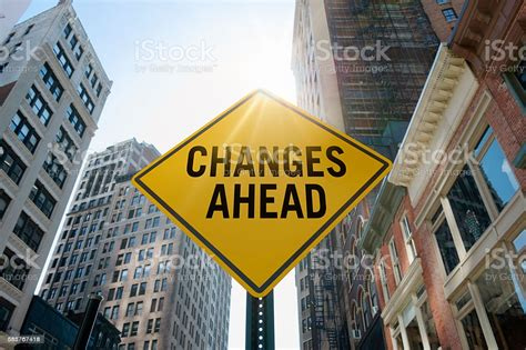 Changes Aheadtraffic Sign Stock Photo - Download Image Now ...