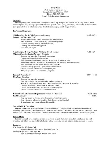 Coat Check Resume by Inventory Cover Letter Sle Resume Sle Inventory Management Buyer Resume Sle