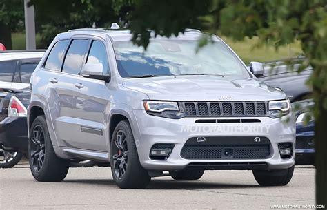 jeep cherokee gray 2017 2018 jeep grand cherokee trackhawk spy shots