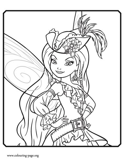pirate fairy silvermist  pirate fairy coloring page