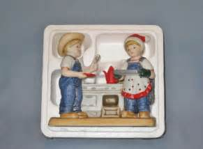 ebay home interiors nib 39 cookies for santa 39 denim days porcelain figurine home interiors homco ebay
