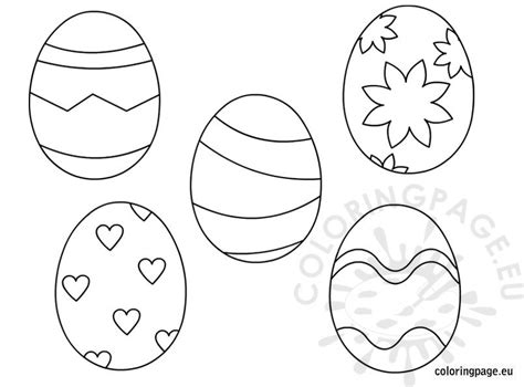 43 Easter Egg Coloring Page, Free Printable Easter Egg