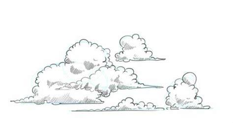 draw clouds step  step