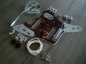 Jaguar Guitar Full Replacement Hardware Pickguard Wiring