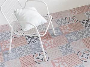 Dalle Vinyle Carreau De Ciment : l 39 inspiration du jour le sol en vinyle effet carreaux de ~ Premium-room.com Idées de Décoration