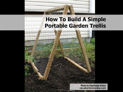 How To Build A Lattice How To Build A Simple Portable Garden Trellis