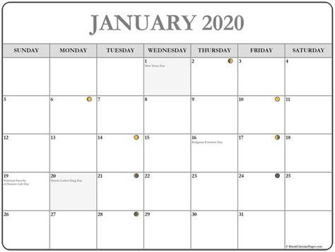 printable january  moon calendar january january