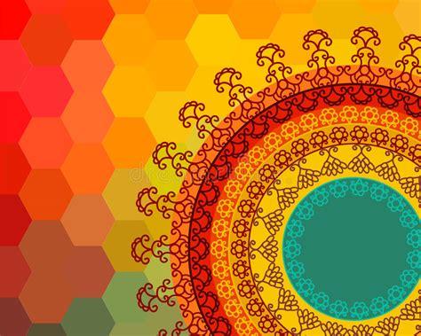 colour henna mandala background stock vector